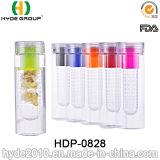 la bottiglia di acqua di plastica promozionale di infusione della frutta 600ml, BPA libera la bottiglia di acqua di Tritan (HDP-0828)