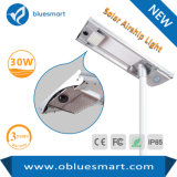 Lumière extérieure 30W de rue solaire économiseuse d'énergie des produits DEL
