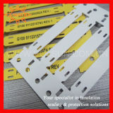 Escritura de la etiqueta plástica de la etiqueta de plástico del cable de la identificación permanente