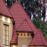 입힌 착색한 돌 모래가 건축재료에 의하여 직류 전기를 통해 금속 도와를 지붕을 단