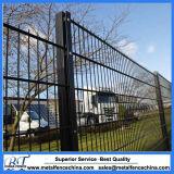 Polvo que cubre el panel doble de la cerca del acoplamiento de alambre para el jardín/el parque