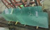 Vitre en acier trempé avec bord recouvert de C