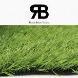 Ajardinando o futebol, o futebol, ostenta a grama sintética artificial do relvado do tapete do campo