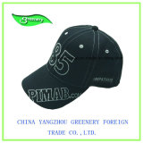 Diseño Normal negro bordado promocional gorra de béisbol