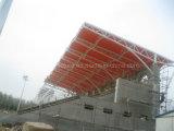 競技場の鋼管のトラスおよび引張られた膜の構造