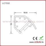 luz de tira de alumínio do diodo emissor de luz do perfil de 16W/M com lúmen elevado