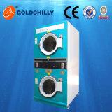 Asciugatrice poco costosa a gettoni dell'essiccatore della pila del doppio della macchina della lavanderia automatica