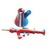 Hookah AK47 de silicona de colores el hábito de fumar los tubos de agua con el tazón de vidrio.