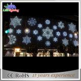 Indicatore luminoso decorativo bianco della parete del centro commerciale del fiocco di neve del LED