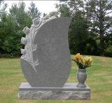 Быстрая доставка дешевые в вертикальном положении старинной гранита Headstones