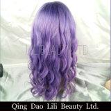 Pelucas rectas naturales del pelo humano del frente del cordón con el rojo pre desplumado frontal brasileño/Yellow/613/Purple de la reina Remy de la miel de la peluca del pelo del pelo del bebé