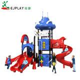 Tamanho grande pré-escolares de plástico de aventura ao ar livre playground para crianças