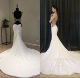 Really Satin Beading Mermaid Evening Gowns Wedding Dress Evening Dress