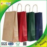 Bolsas de papel de Kraft/bolsos de mano/bolsos del regalo/bolsas de papel de encargo de Kraft