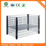 GroßhandelsSteel Warehouse Mesh Container mit Wheels