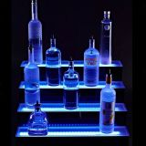 Étapes acryliques Affichage avec Lightbox pour la promotion du vin dans les barres, Point de vente Présenté Plinthe