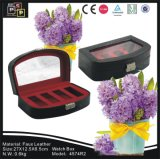 Black PE Window PU Leather 4 Montres Watch Box (4574)
