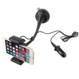 Caricatore chiamante Handsfree dell'automobile del telefono del supporto del trasmettitore astuto di Bluetooth FM