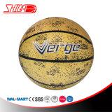 La gomma ecologica di colore di formato dorato degli adulti mette in mostra la pallacanestro