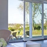 Vendedor caliente de cristal templado doble puerta corrediza de aluminio