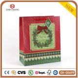 빨간 꽃 굴렁쇠 부대 크리스마스 소원 종이 봉지, 선물 종이 봉지