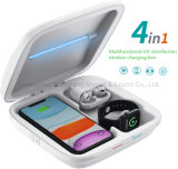 UV draadloze oplader telefoonreiniger, smartphone Cleaning multifunctionele box, 4 in 1 Qi draadloze telefoon oplaadstation, compatibel met iPhone 11 PRO Max X XS xr