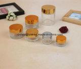 Boião de creme Cosméticos de vidro com tampa de Ouro