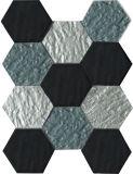 KitchenおよびGolden Select Mosaic Wall Tile Hexagon TileのためのガラスMosaic Tile