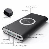 Nuevo auténticos mejor venta de portátiles de gran capacidad inalámbrica móvil inalámbrico Qi Cargador de carga inductiva Mat 10000 mAh Batería Bank