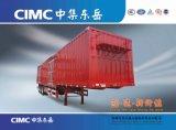 Cimc Cheap 2/3 sec de l'essieu Van semi-remorque Remorque, la boîte de chargement du conteneur