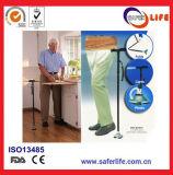トーチが付いているLEDライト杖が付いている2017新製品のSaferliferの赤いアルミニウムFoldable歩く杖