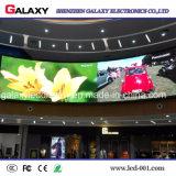 Cartelera video fija de interior de la pared de la visualización de pantalla del panel de P1.5625/P1.667/P1.923 HD LED para la etapa de la TV, vigilando el centro