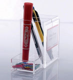 Sostenedor de acrílico del lápiz con el sostenedor de la tarjeta de visita