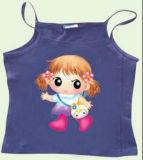 아이들의 의복을%s 스티커를 인쇄하는 열전달 만화 로고