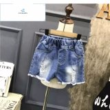 Shorts del denim strappati vendita calda di modo per le ragazze dai jeans della mosca