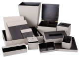 Hotel Straw Mat PU Leather Bill Folders Check in Folders