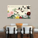 A harmonia traz a pintura chinesa impressa Inkjet da riqueza para a decoração Home