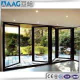 Раздвижные двери пролома двойной застеклять алюминиевые термально/алюминиевые двери Casement