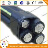 2/0 кабелей 15kv Urd, силовой кабель Urd при перечисленный UL