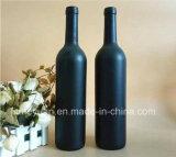 Frasco de vidro Matte preto 750ml de vinho vermelho