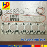 Jogo cheio da gaxeta da revisão das peças sobresselentes PC300-5 6D108 do motor da máquina escavadora