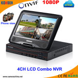 "4CH H. 264 Combo Standalone CCTV DVR com 10 ""Monitor LCD"