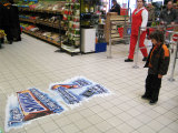 Decalcomanie del pavimento di stampa del contrassegno, grafici del pavimento, autoadesivi del pavimento, decalcomanie di Promo