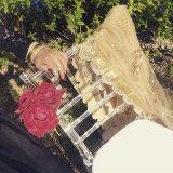 Silla plástica cristalina de la boda de Chiavari de la resina del precio de la silla de Tiffany
