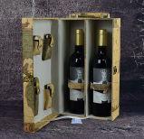 Neuer Entwurf handgemachter Darstellungs-Wein-Kasten mit Weltkarte