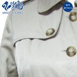 Botón de primavera / otoño de manga larga vestido plisado de moda exterior