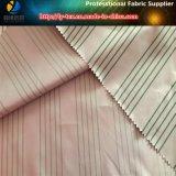 High-density ткань сатинировки нашивки полиэфира покрашенная пряжей для вниз куртки