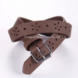 Personnaliser Fashion Weaving Stylish PU Leather Pin-Buckle Belt