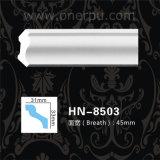 Panneaux de plafond de moulage de polyuréthane de corniche d'unité centrale Hn-8503