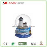Смола Hand-Painted воды земного шара с здание снег земного шара для дома оформление подарков и сувениров